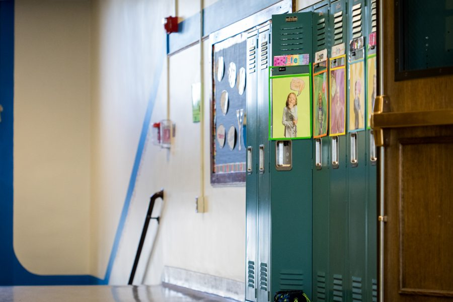 hallway of a school with lockers